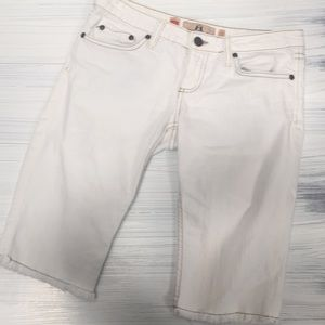 Juicy Couture white cut off jeans size: 27